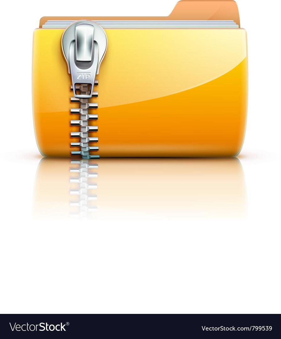 Zip folder icon Royalty Free Vector Image - VectorStock