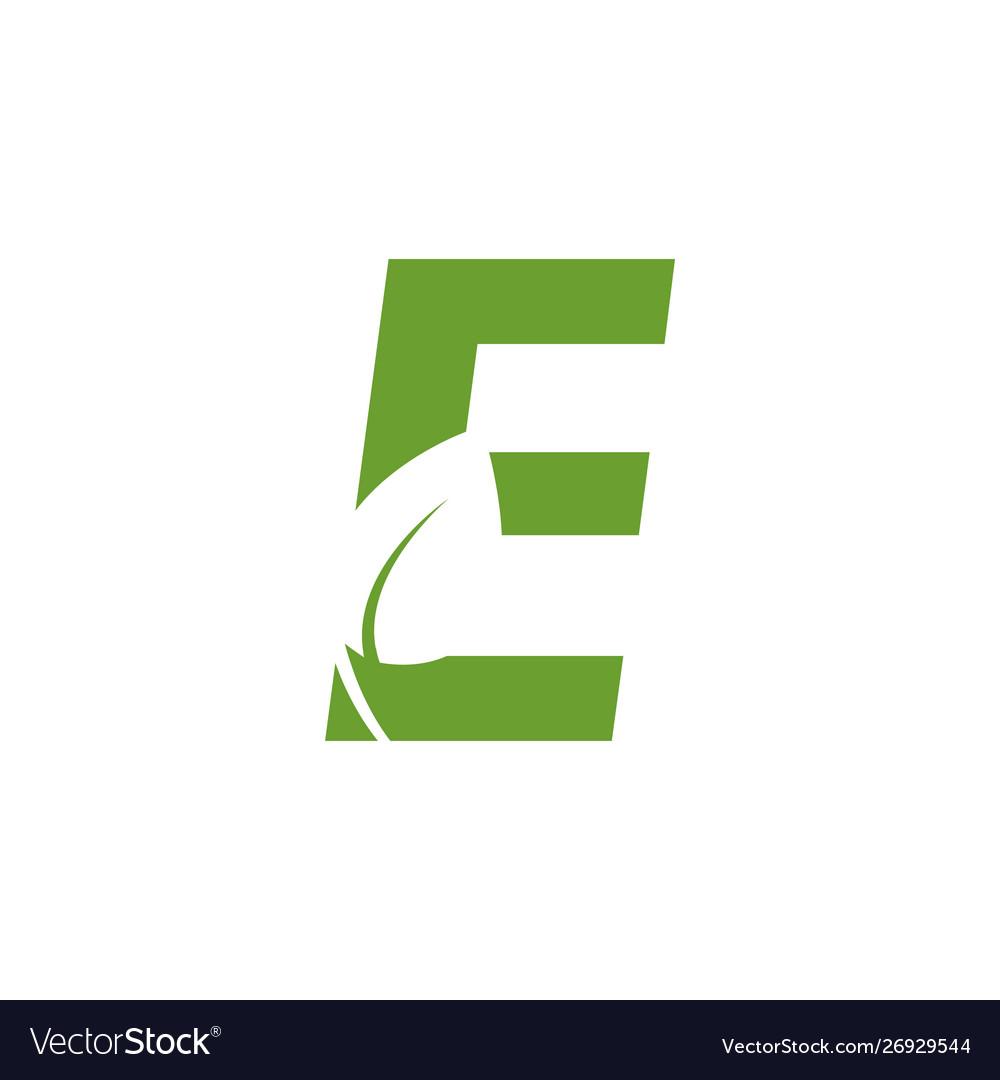 Alphabet leaf graphic design template isolated