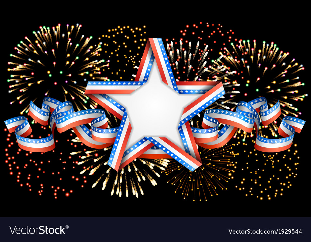 American background with star and fireworks