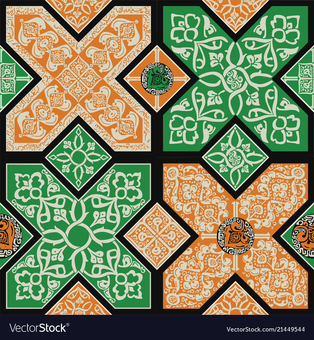 Persian Tile Pattern Vector Image