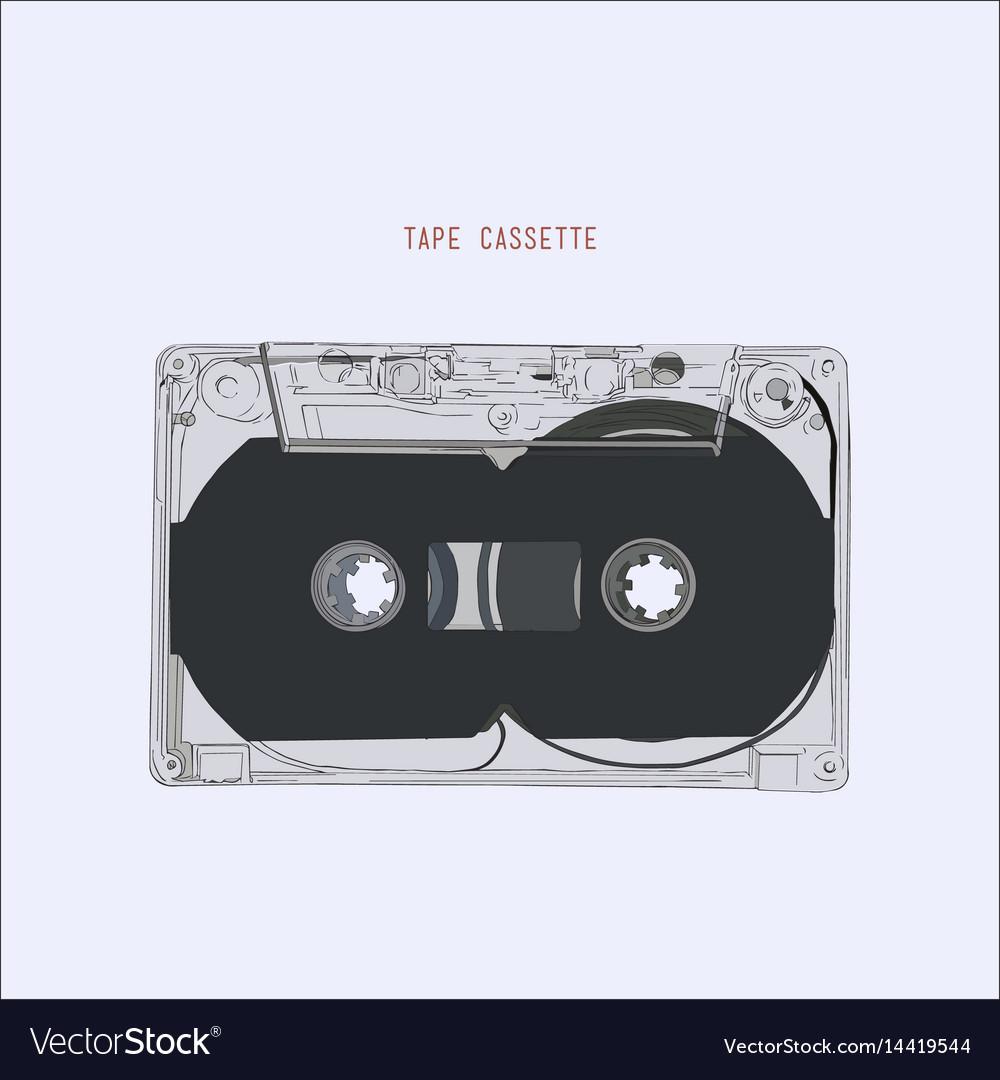 Vintage audio tape cassette