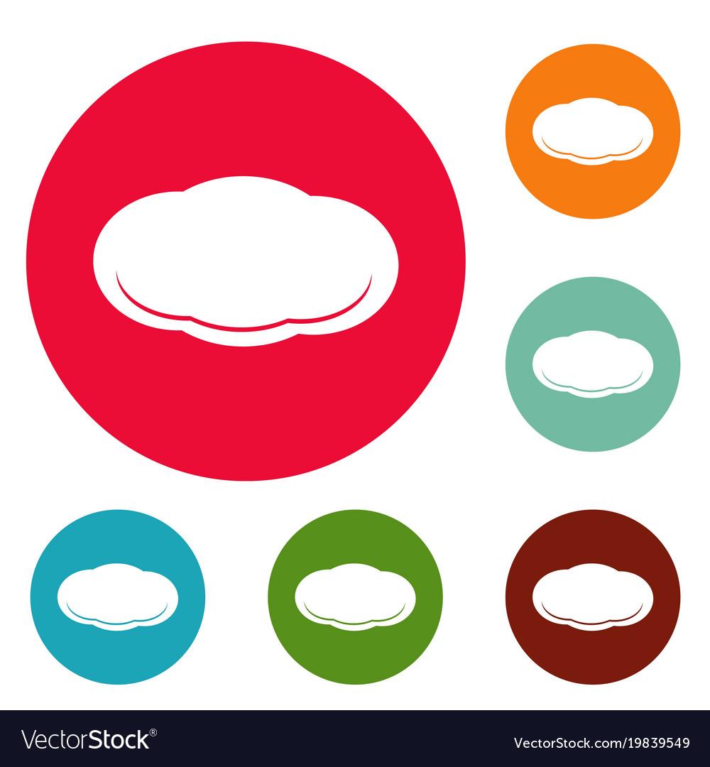 Cloud icons circle set