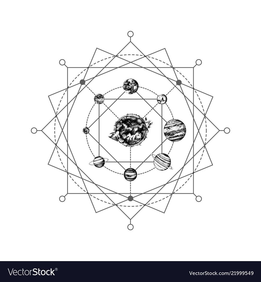 Solar system sacred geometry