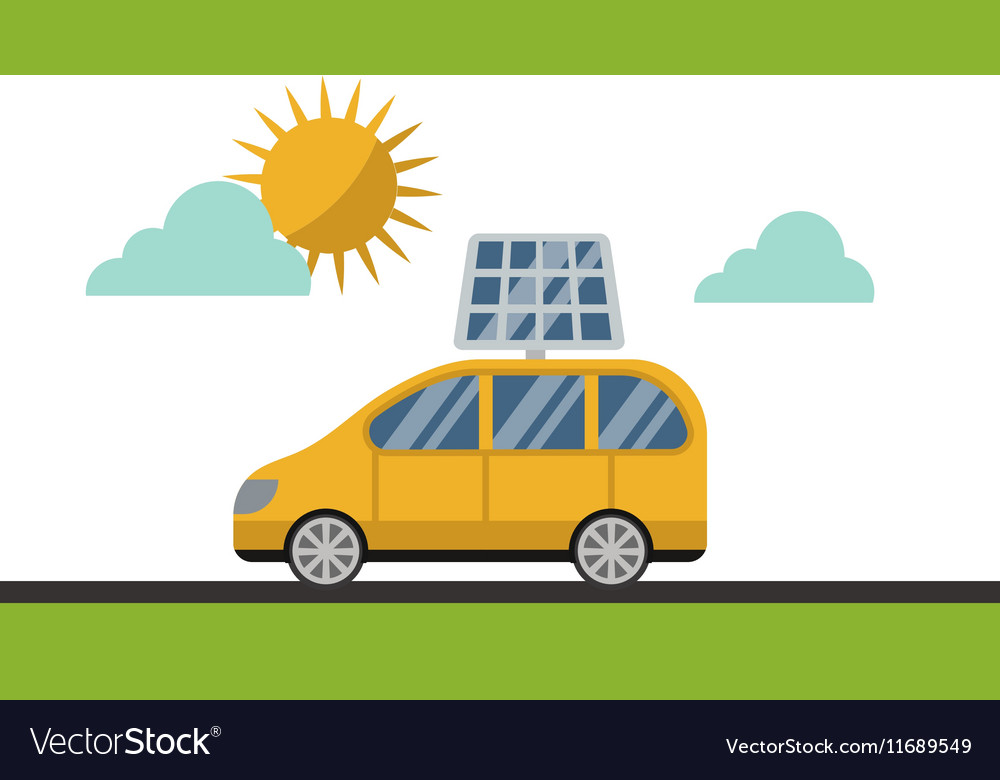 Sun solar energy electric car