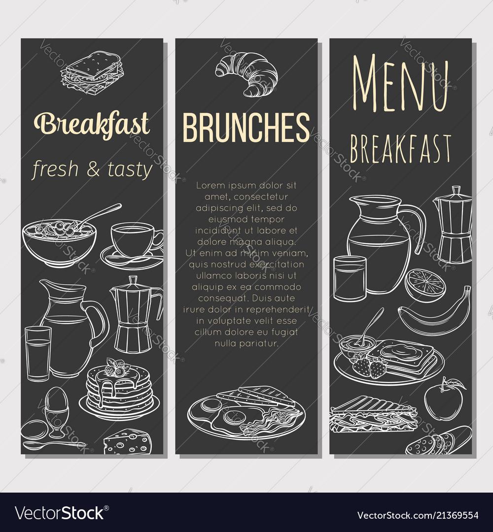 Breakfast template banner