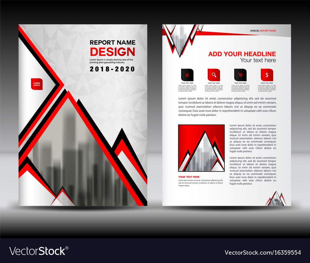 Business brochure flyer template in a4 size red vector image saigontimesfo