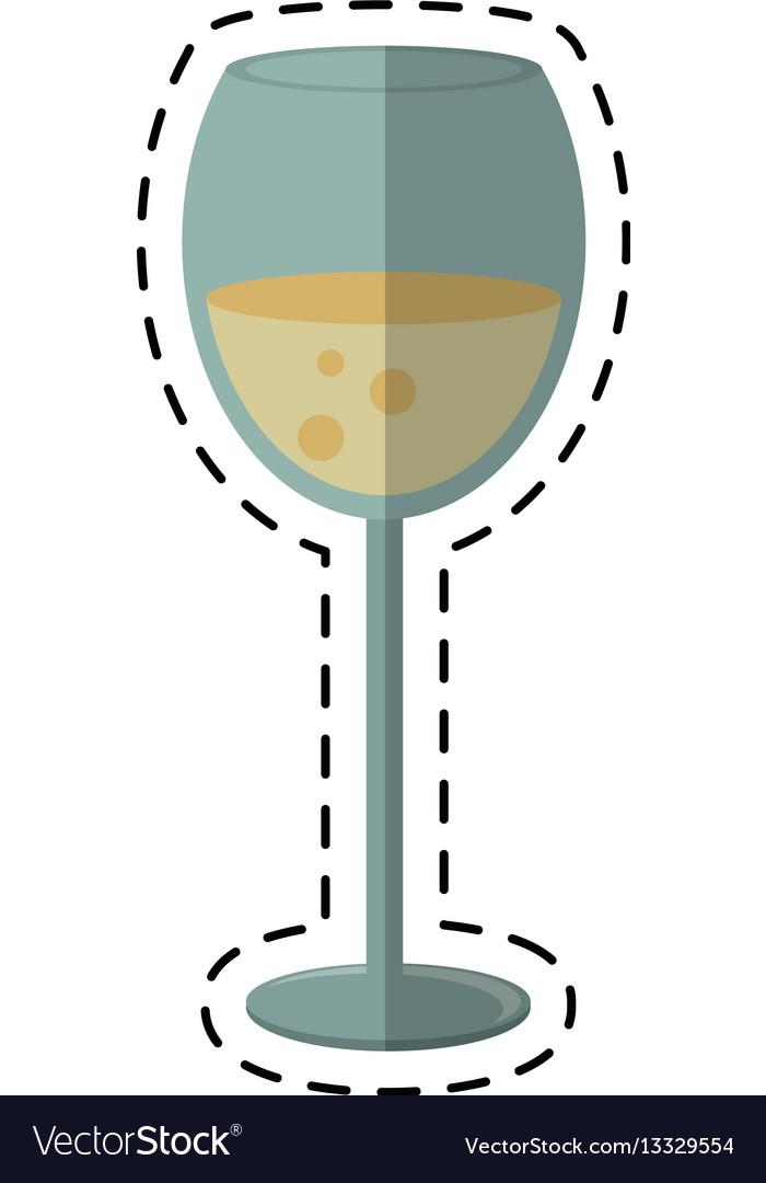 Cartoon glass cup beverage drink