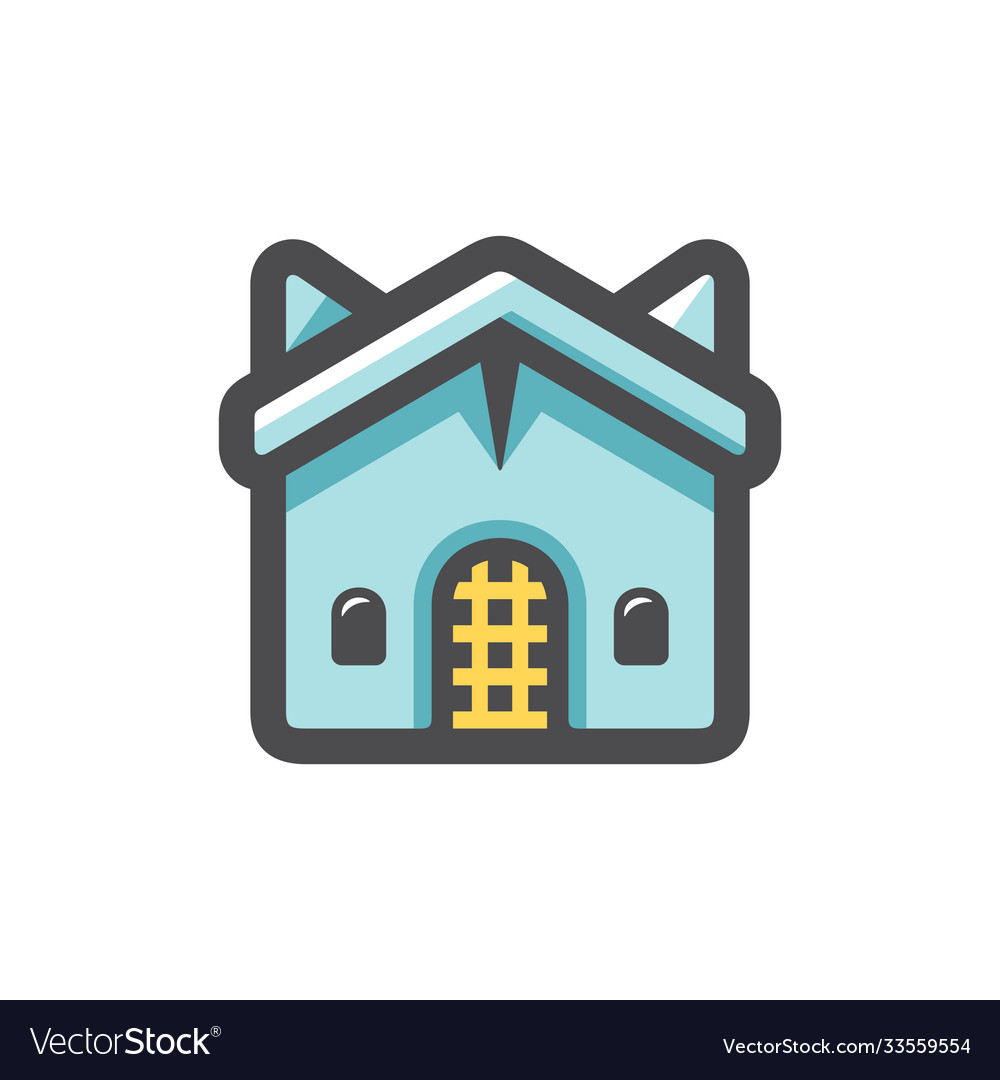 Church religious building icon cartoon