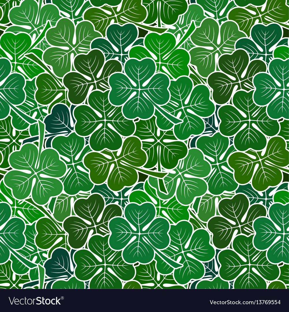 Clover leaves seamless