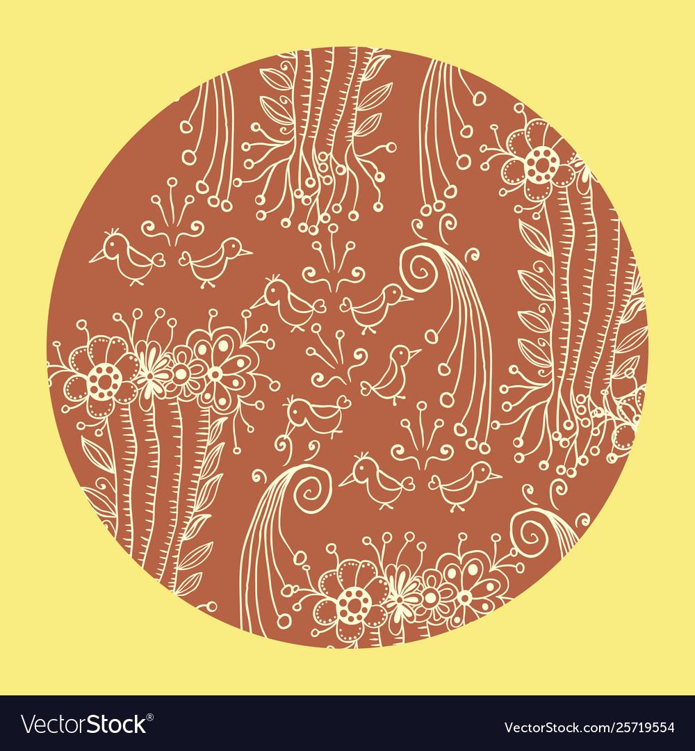 Mandala ornament in circle round shape decorative