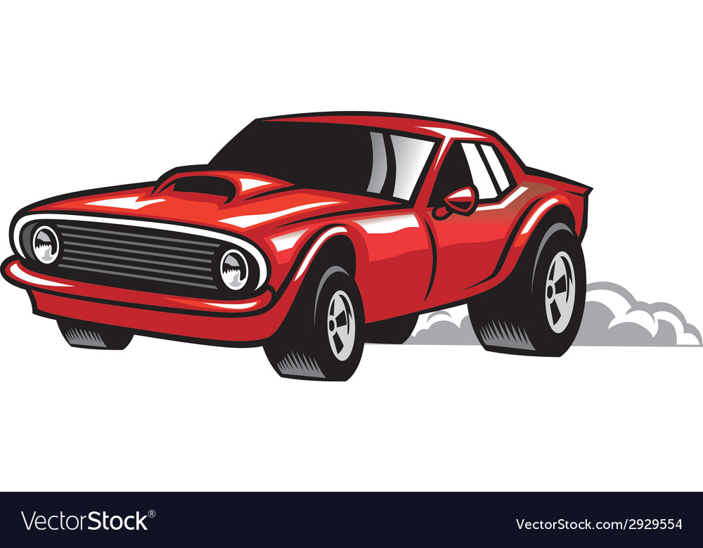 Muscle Car Royalty Free Vector Image Vectorstock