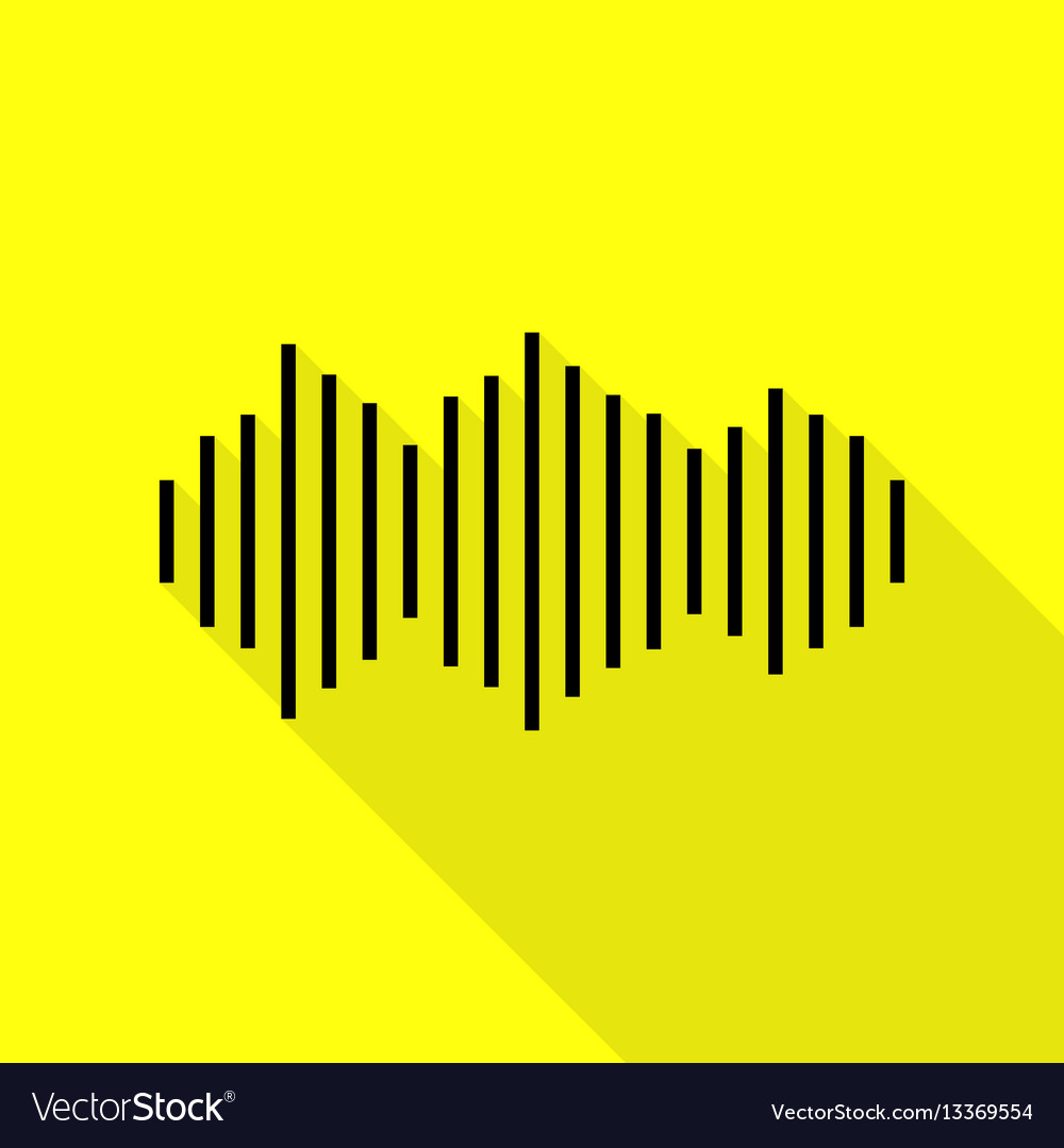 Sound waves icon black icon with flat style