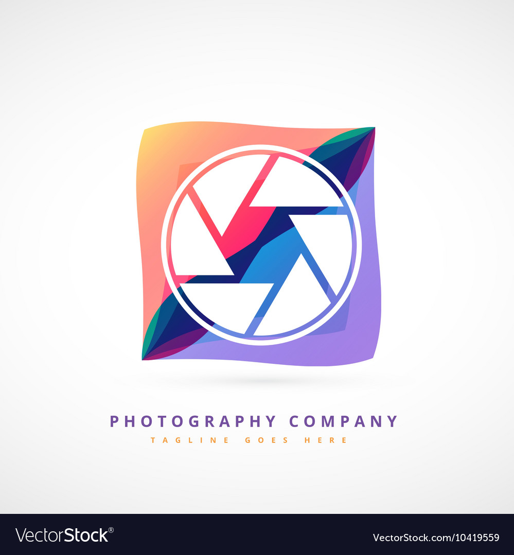 Abstract photography logo design vector image