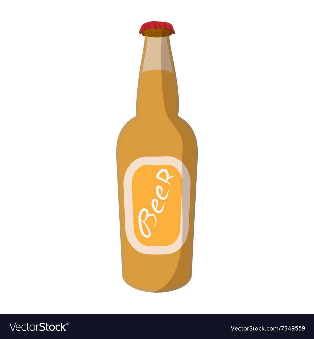 bottle of beer cartoon icon vector image on vectorstock rh vectorstock com Beer Bottle Clip Art beer bottle cartoon images