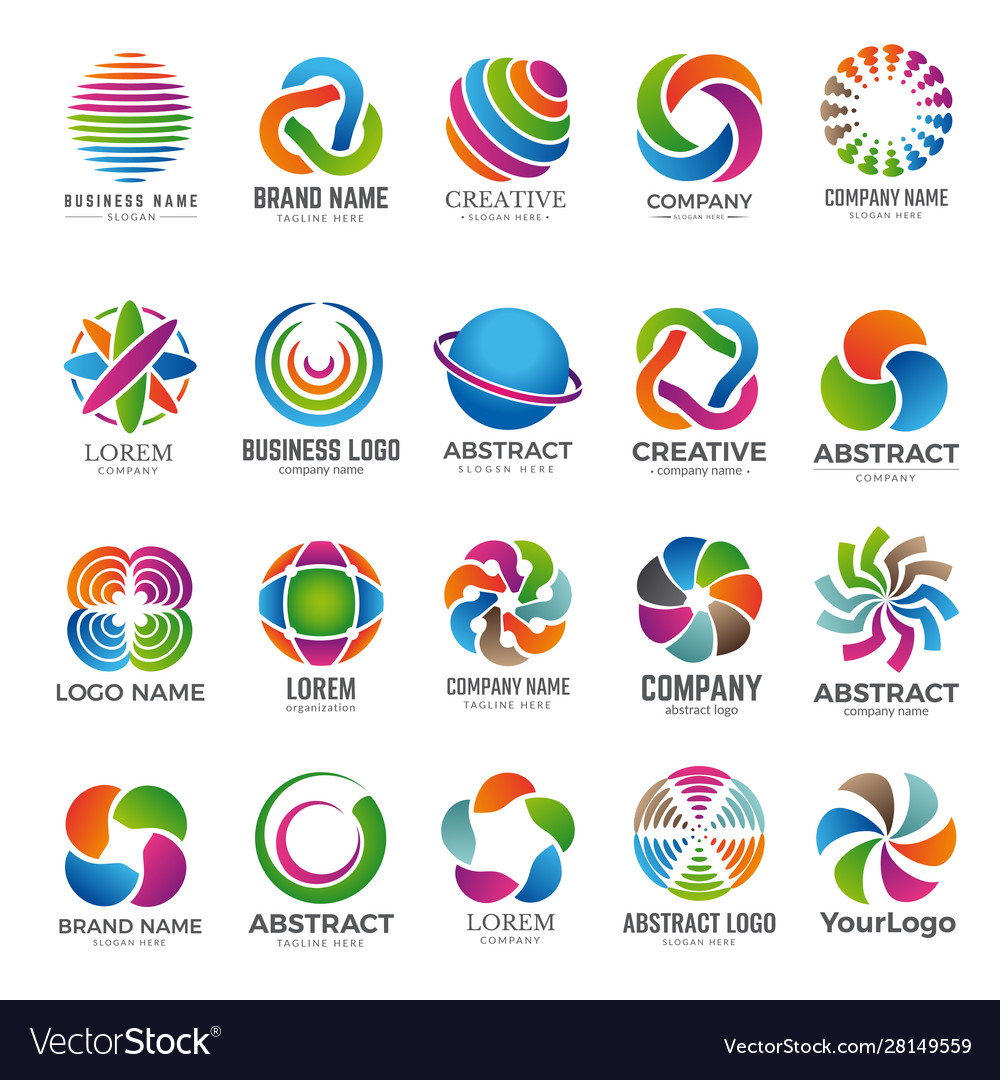 Business globe logo advertising abstract round