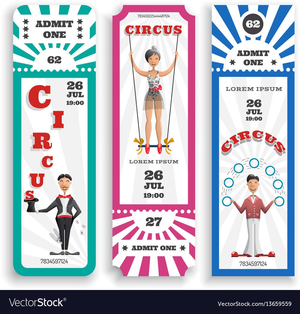 Circus entrance tickets