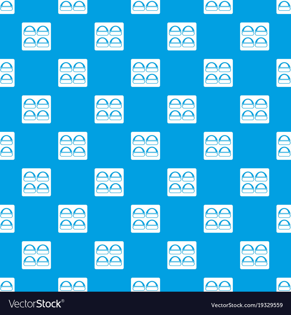 Different sushi pattern seamless blue
