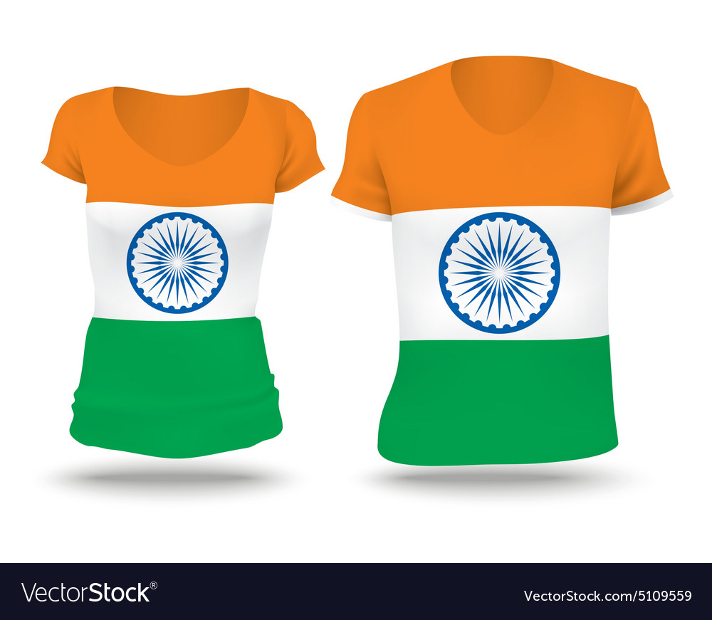 Flag shirt design of India vector image