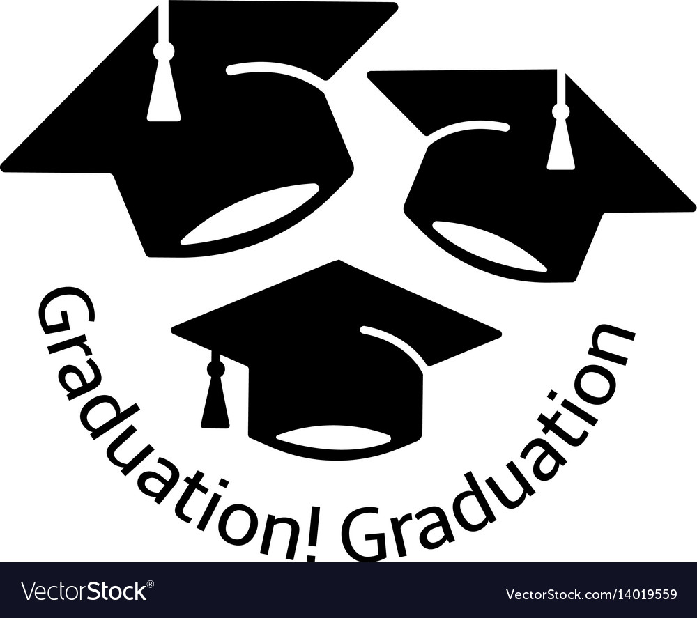 Isolated black and white color three bachelor hats vector image
