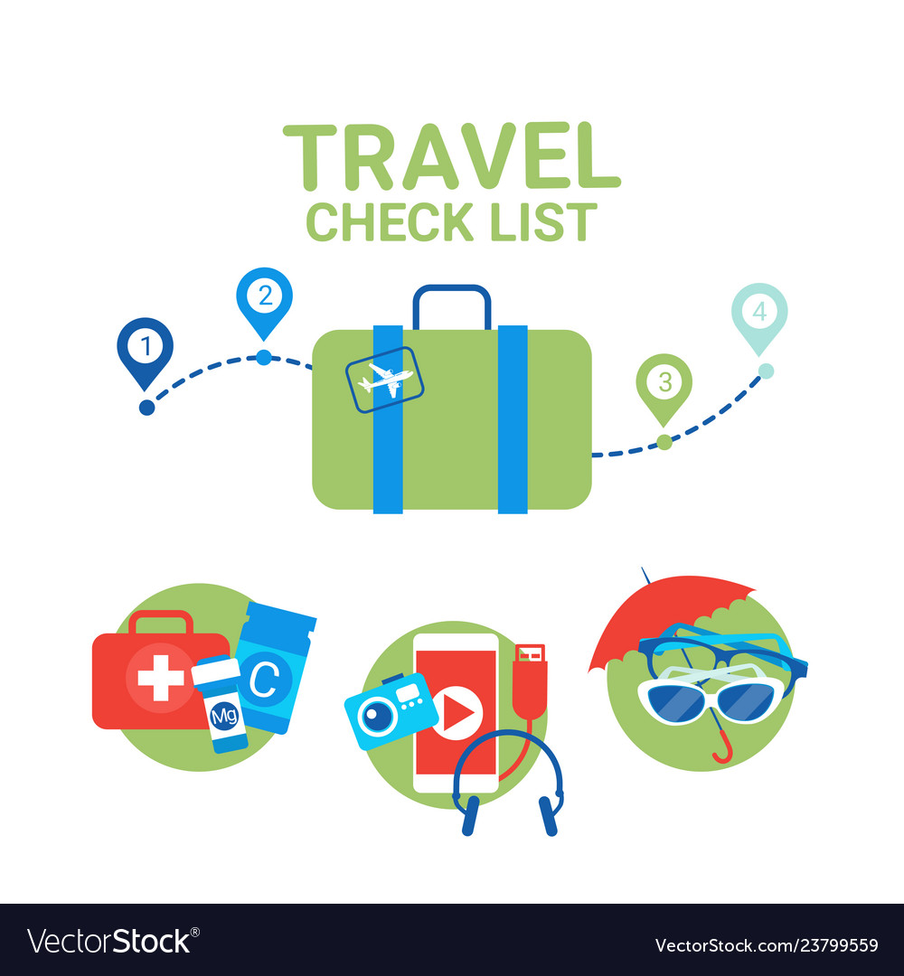 Planning of vacation suitcase with packing items