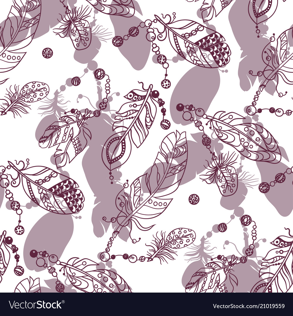 Samless pattern with colored dark red graphic
