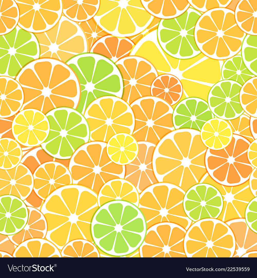 Seamless pattern background sliced halves vector