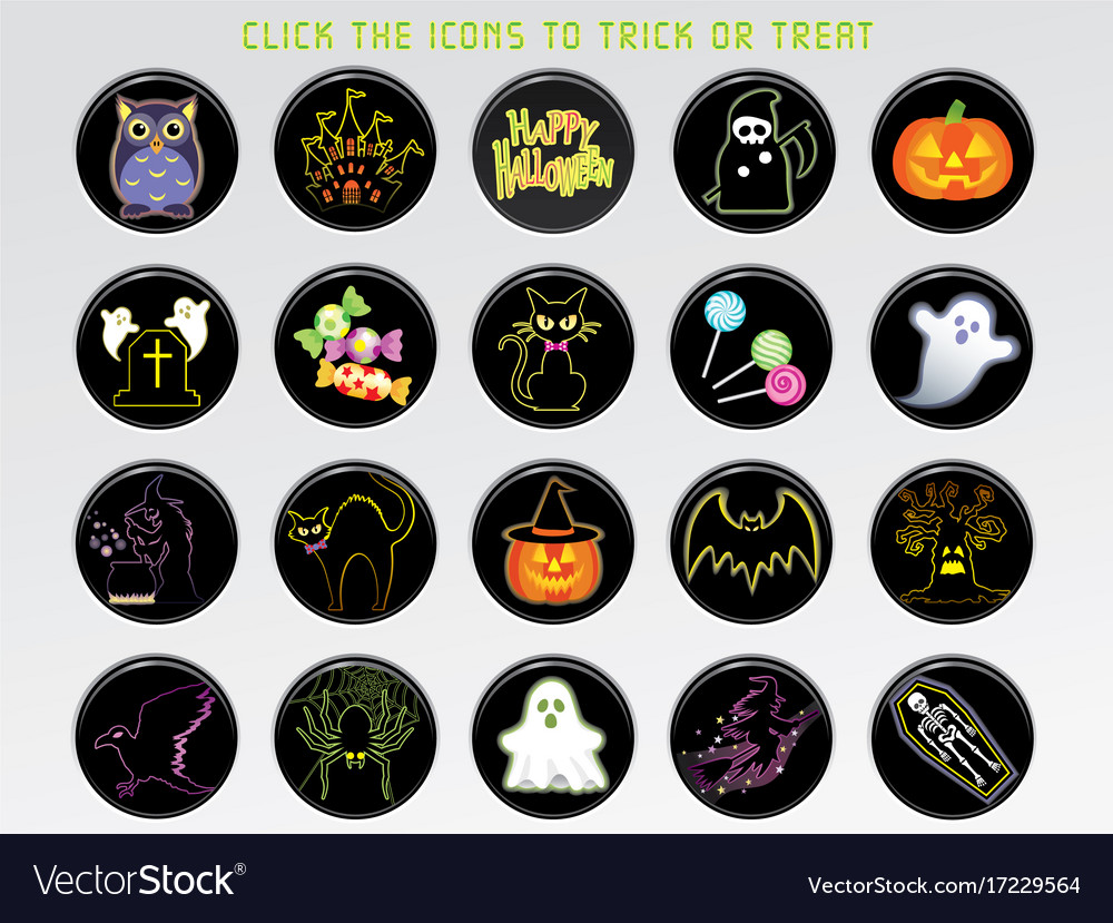 A happy halloween user interface icon set