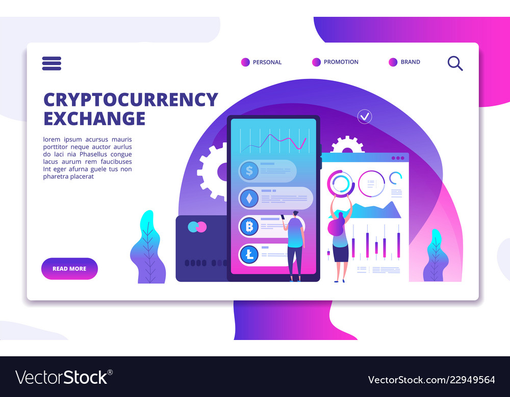 Cryptocurrency exchange landing page online