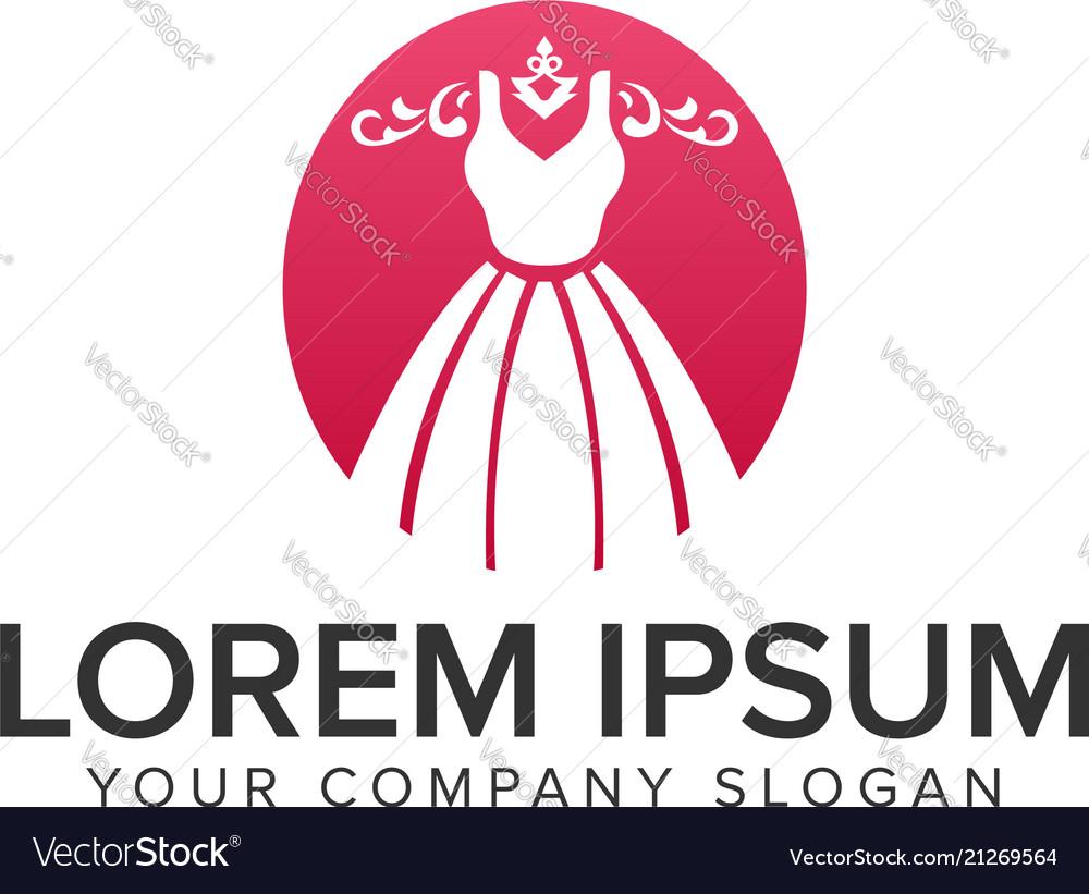 Fashion drees beauty logo design concept template