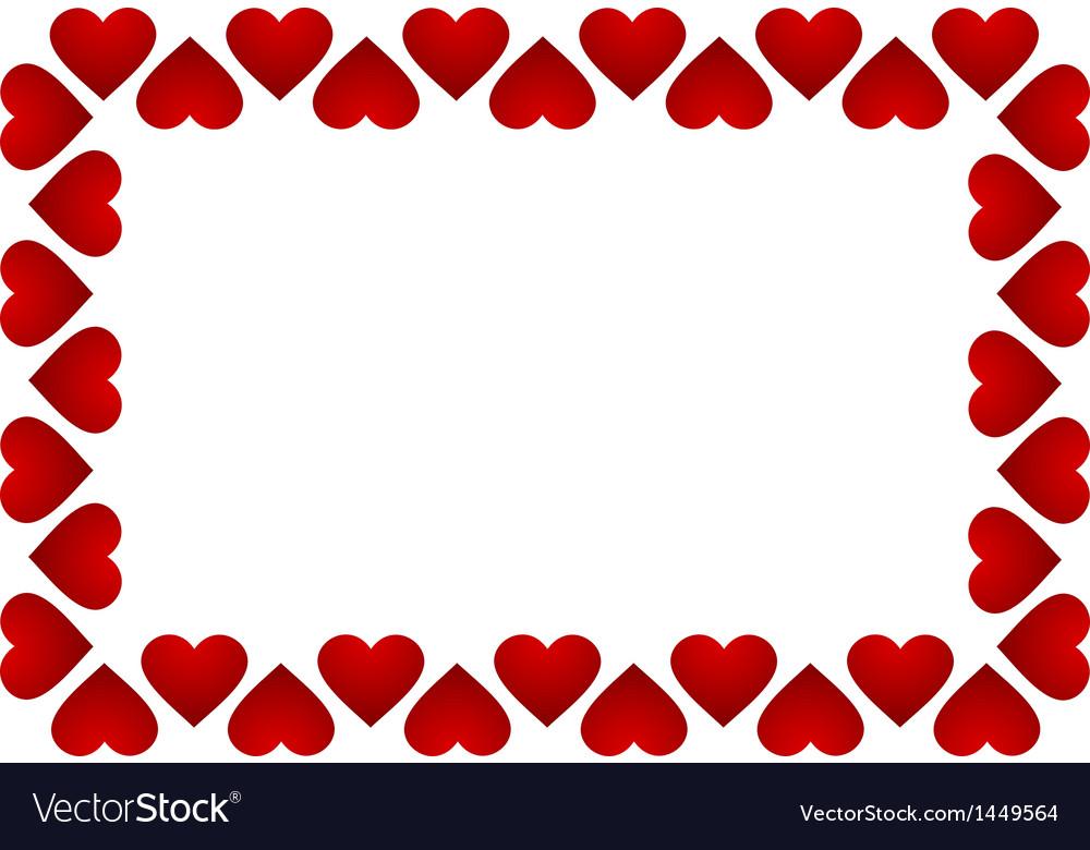 Frame of hearts Royalty Free Vector Image - VectorStock