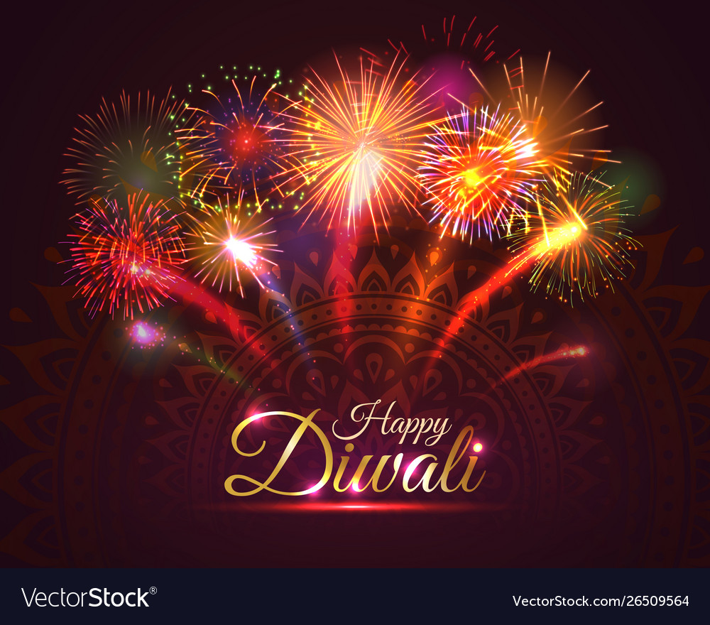 happy diwali greeting card design royalty free vector image vectorstock