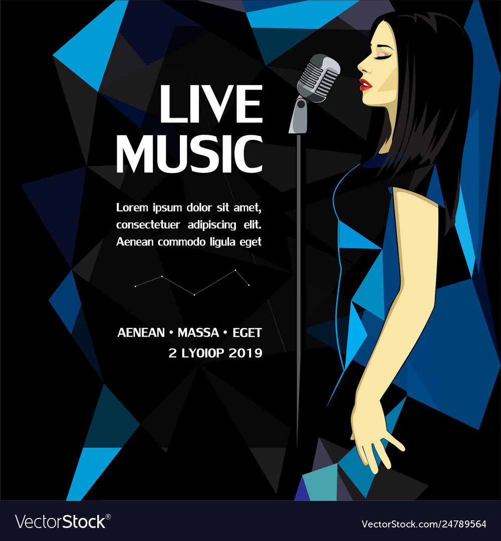Live music party advertising poster