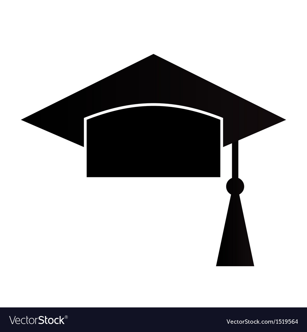 mortar board or graduation cap royalty free vector image rh vectorstock com graduation hat vector logo graduation hat vector icon