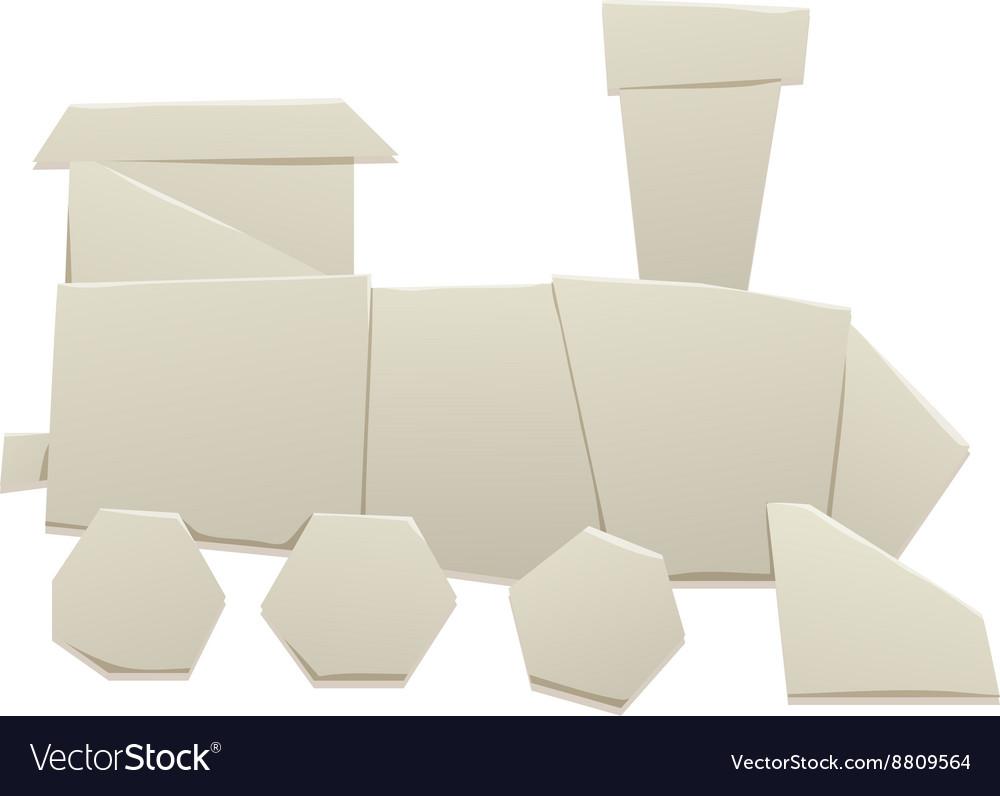 Origami Train Royalty Vector Image Vectorstock