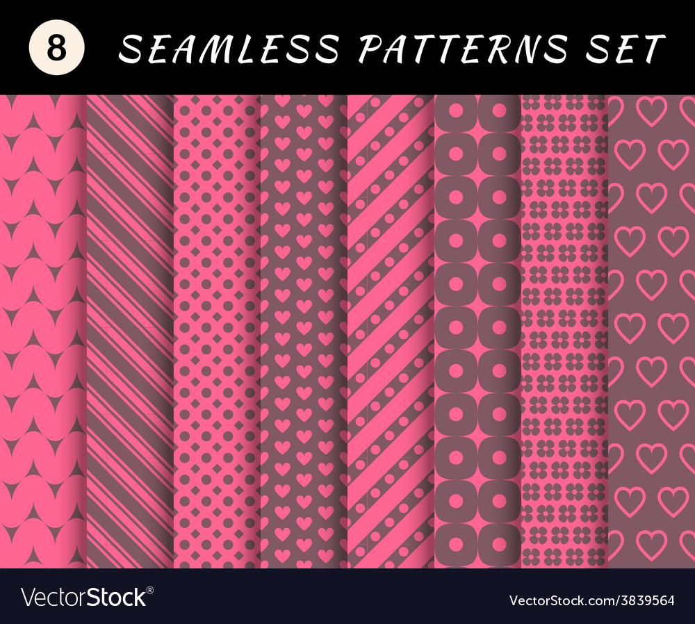 Romantic and love seamless patterns