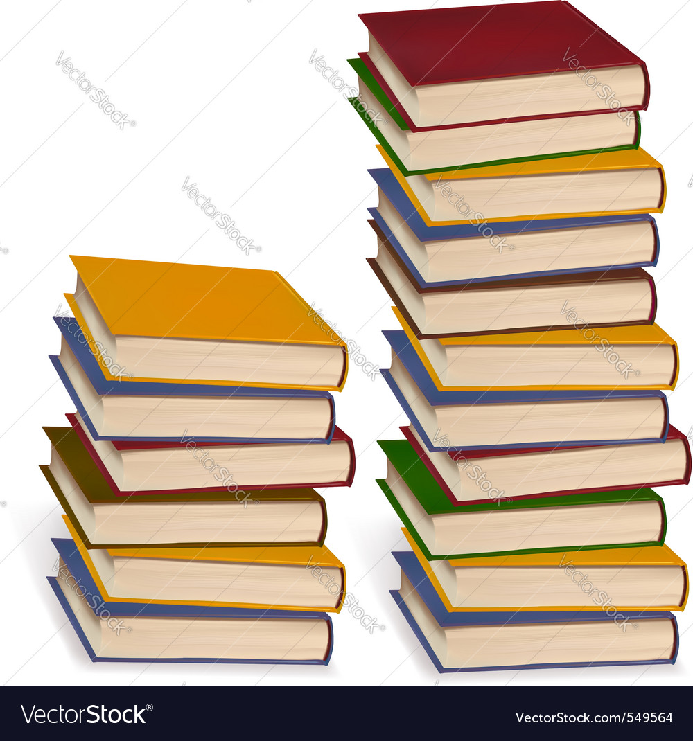 Stack of colorful books Royalty Free Vector Image