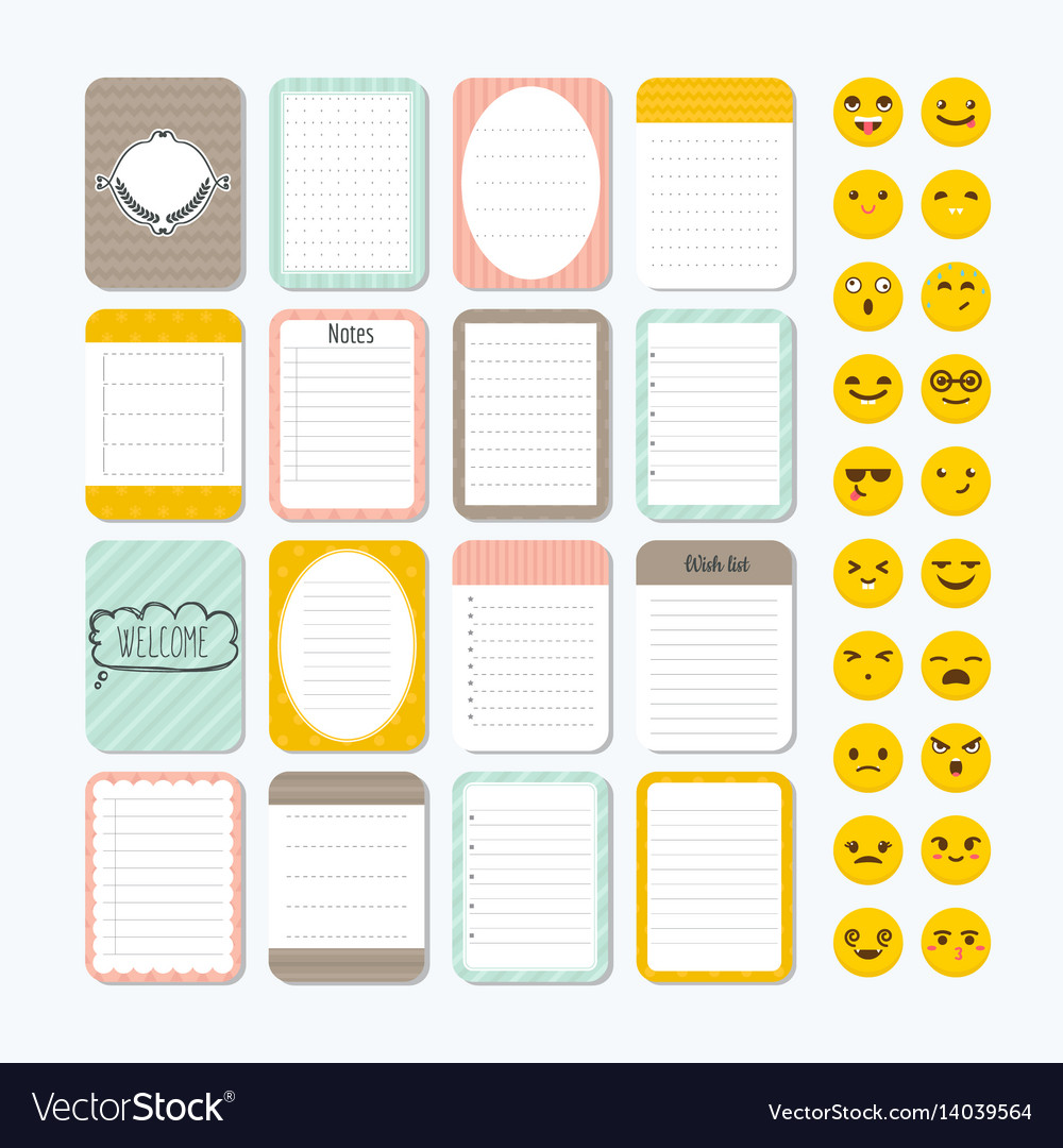 Cute Small Notepad Template Topsimages