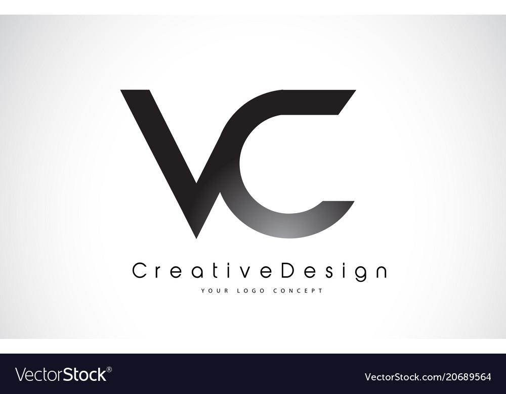 Vc V C Letter Logo Design Creative Icon Modern