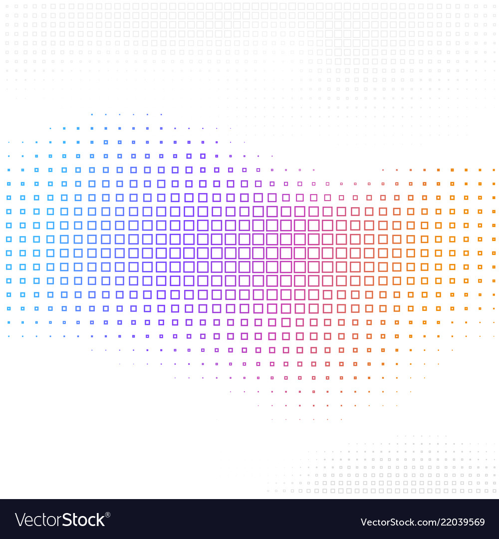 Abstract background with halftone square