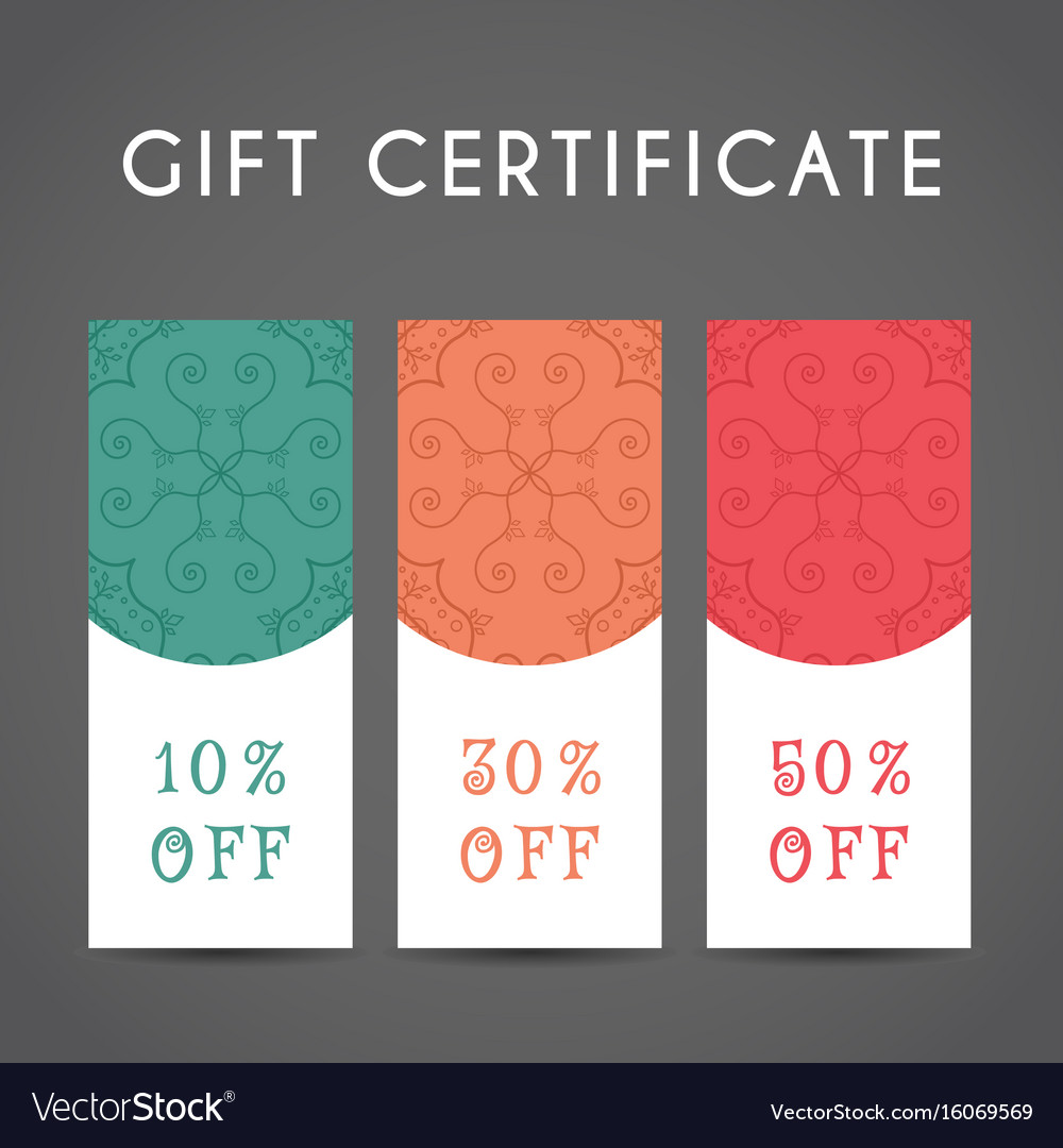 Arabic Discount Coupon Template Royalty Free Vector Image