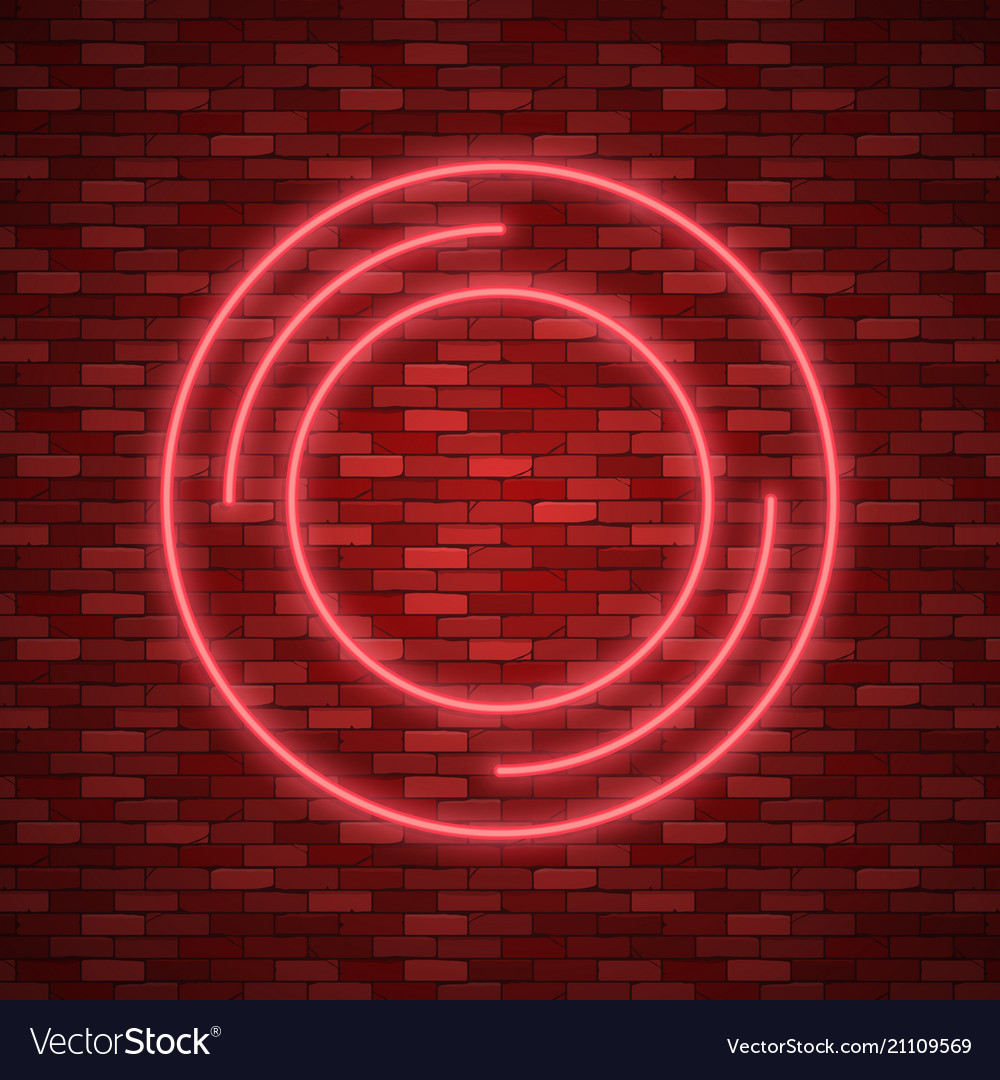 Bulb glowing neon ring lamp sign