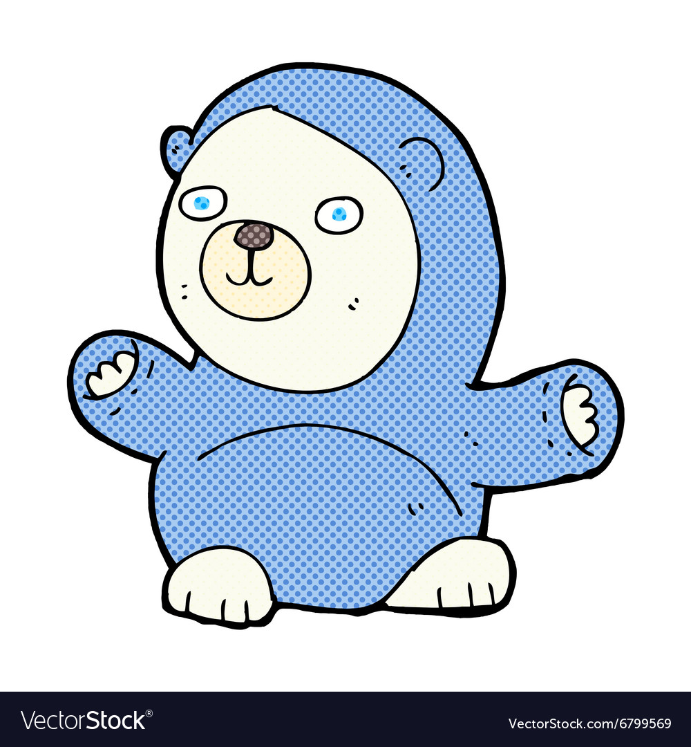 Cute comic cartoon polar bear