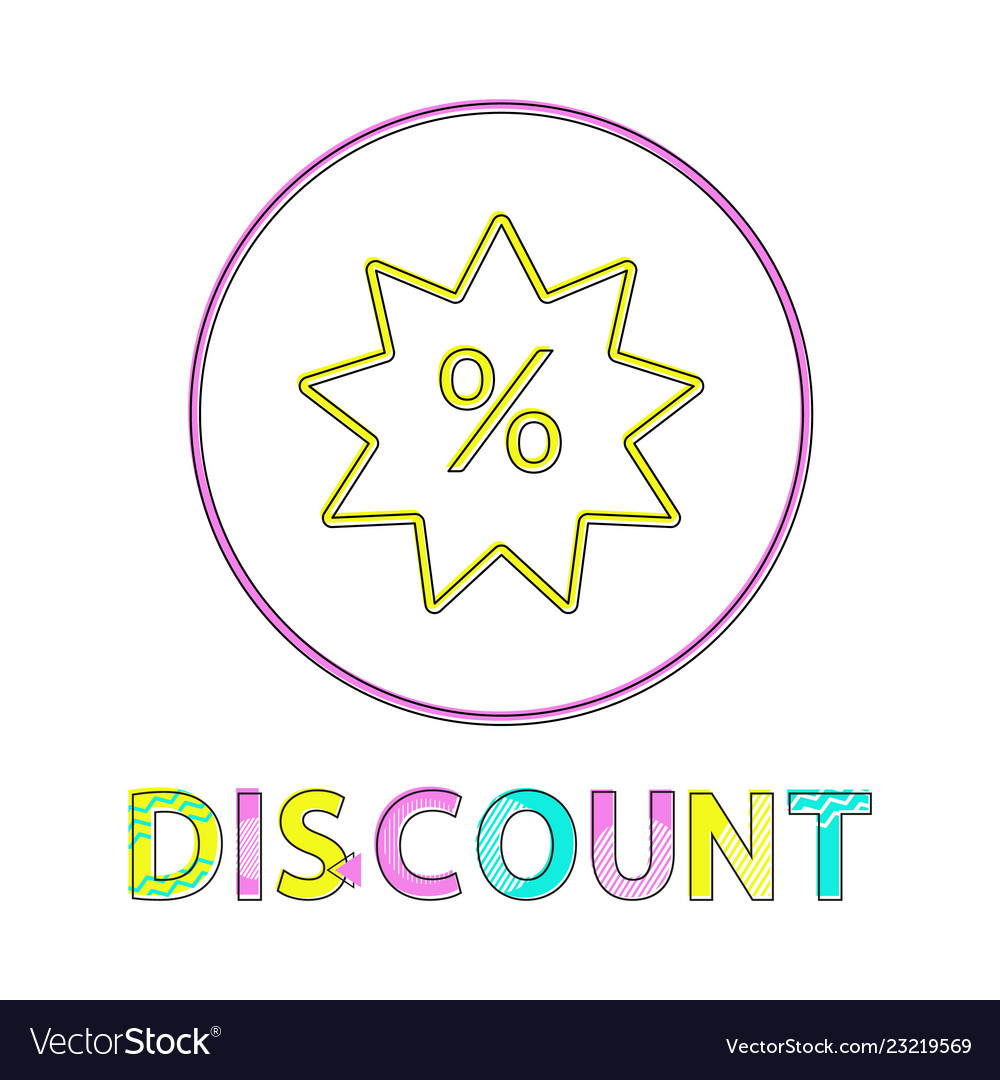 Discount linear outline style