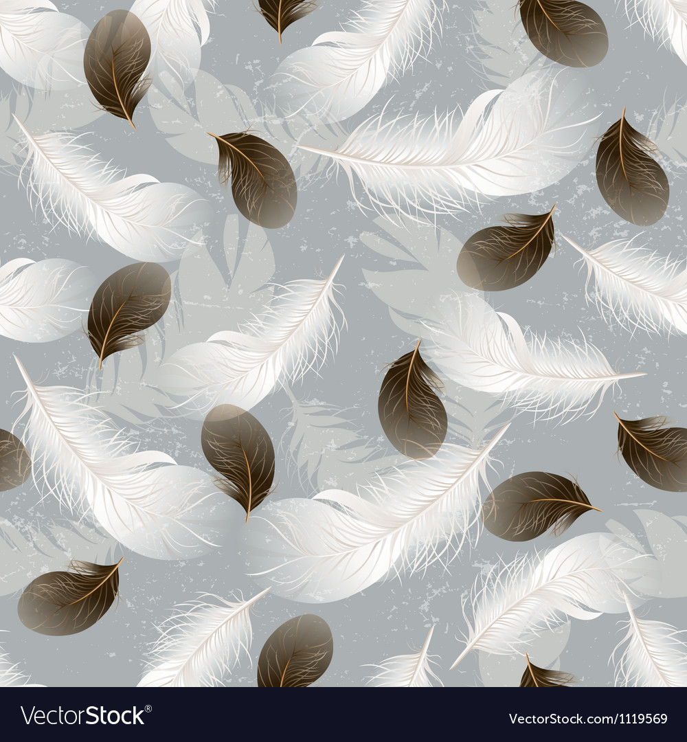 Feather seamless vector image