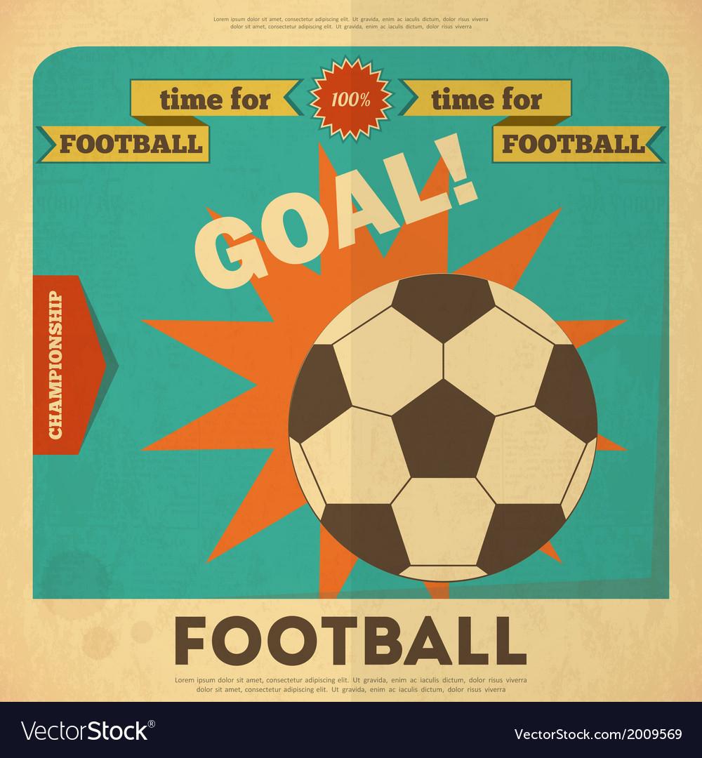Football placard vector image
