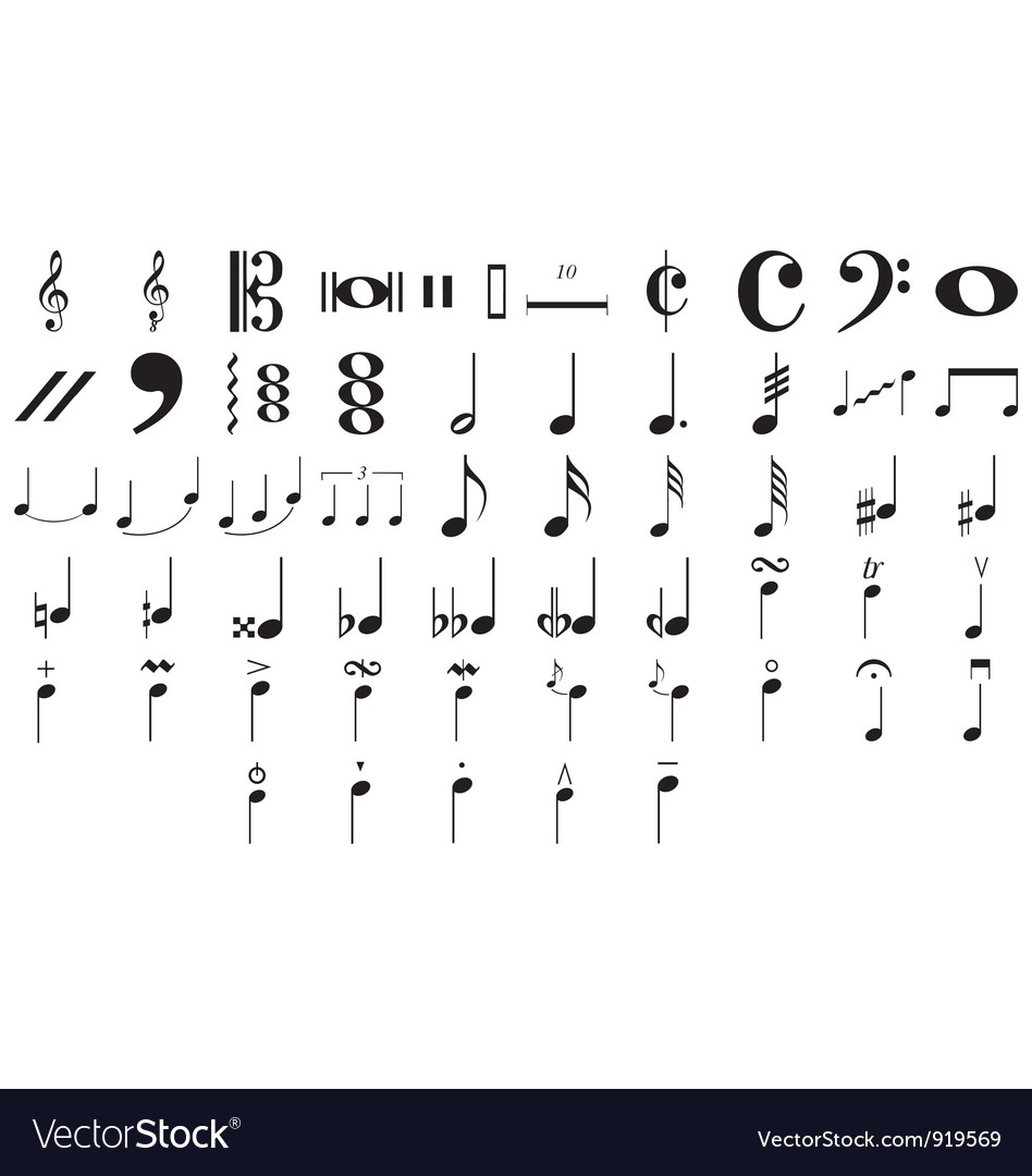 Musical symbols and notes vector image