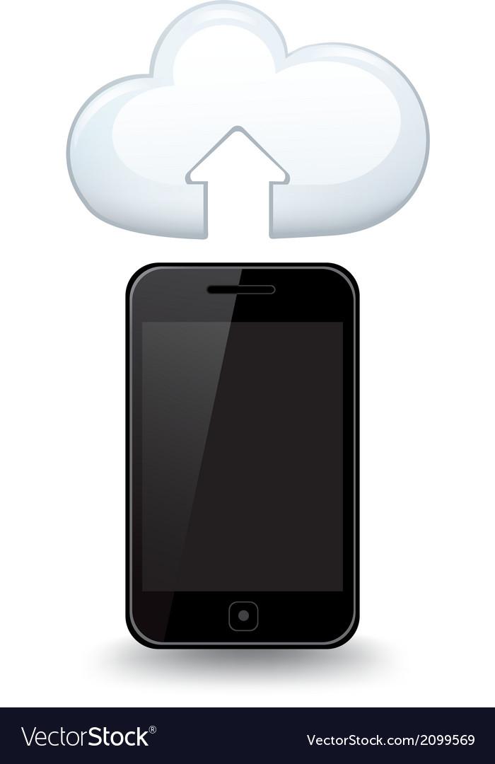 Smart Phone Cloud vector image