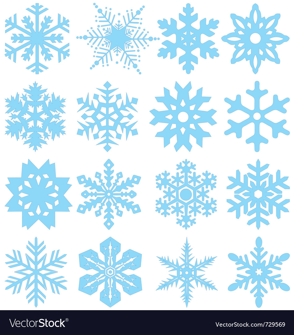 snowflake silhouettes royalty free vector image