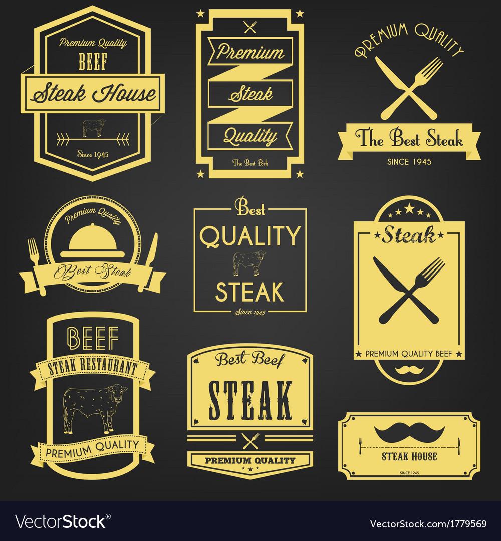 Steak Premium Label Design