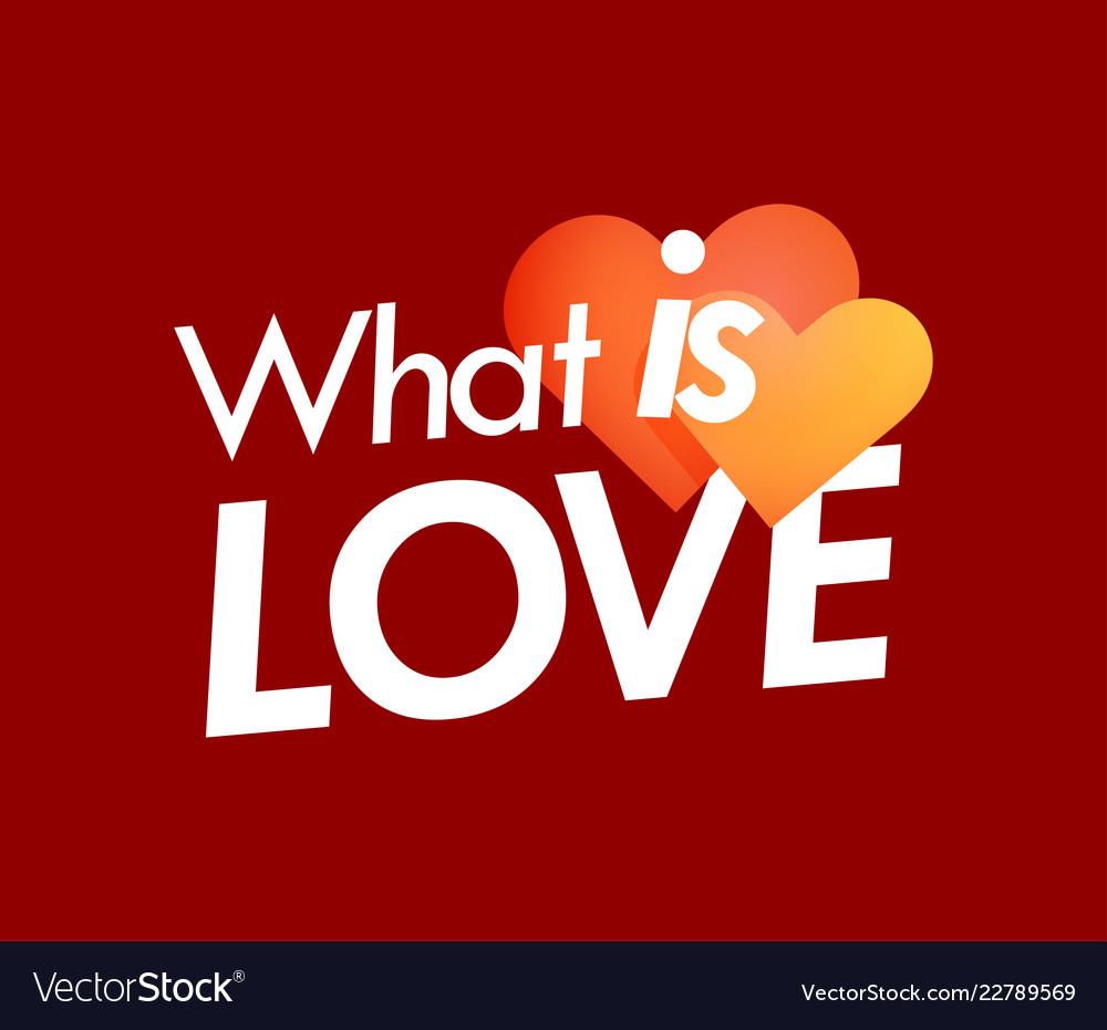 What is love poster with couple of hearts